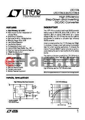 LTC1174CN8 datasheet - High Efficiency Step-Down and Inverting DC/DC Converter