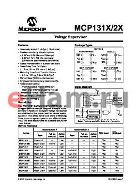 MCP1321T datasheet - Voltage Supervisor