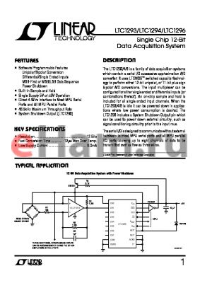 LTC1294CM datasheet - Single Chip 12-Bit Data Acquisition System