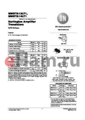 MMBTA13LT1G datasheet - Darlington Amplifier Transistors