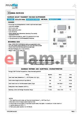 P4SMA130C datasheet - SURFACE MOUNT TRANSIENT VOLTAGE SUPPRESSOR