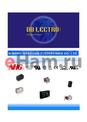JQX-13F4CADC12V2NIL datasheet - NHG RELAYS