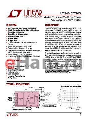 LTC2408IG datasheet - 4-/8-Channel 24-Bit uPower No Latency ADCs