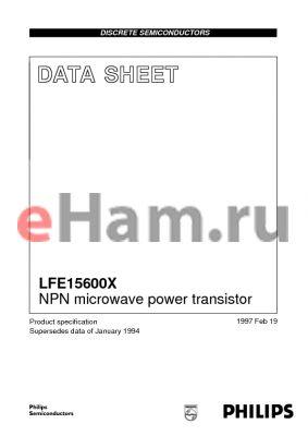 LFE15600X datasheet - NPN microwave power transistor