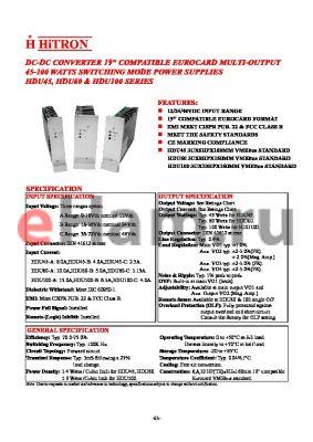 HDU60-A-T033IM datasheet - DC-DC CONVERTER 19