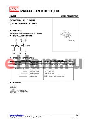 IMZ88G-AG6-R datasheet - GENERAL PURPOSE DUAL TRANSISTOR)
