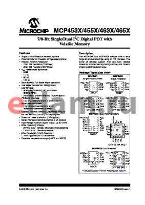 MCP4532-503E/ML datasheet - 7/8-Bit Single/Dual I2C Digital POT with Volatile Memory