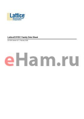 LFEC15E-3FN484I datasheet - LatticeECP/EC Family Data Sheet