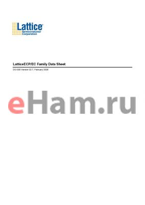 LFECP20E-3F256I datasheet - LatticeECP/EC Family Data Sheet