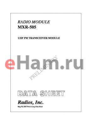 MXR-505RL-915D600AB datasheet - UHF FM TRANSCEIVER MODULE