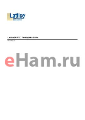 LFECP6E-3T100C datasheet - LatticeECP/EC Family Data Sheet