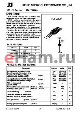 JST12-600B datasheet - 12A TRIACs