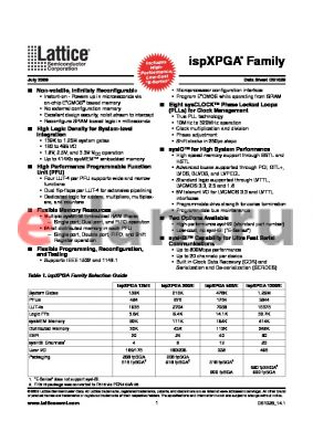 LFX500EC-5FN900C datasheet - ispXPGA Family