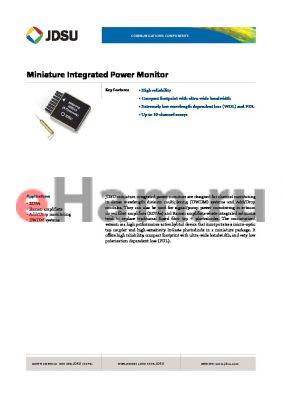 IPM-C8T3 datasheet - Miniature Integrated Power Monitor