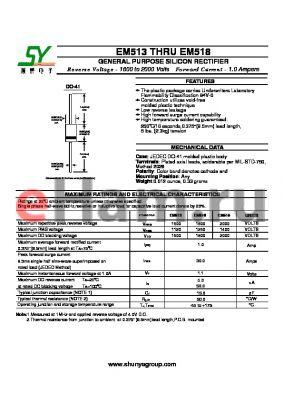 EM513 datasheet - GENERAL PURPOSE SILICON RECTIFIER
