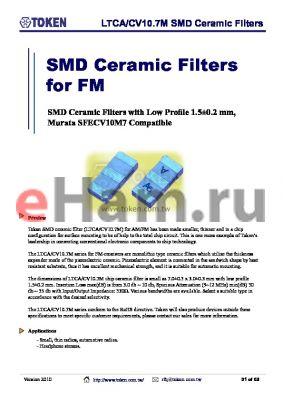 LTCA10.7MS2 datasheet - LTCA/CV10.7M SMD Ceramic Filters