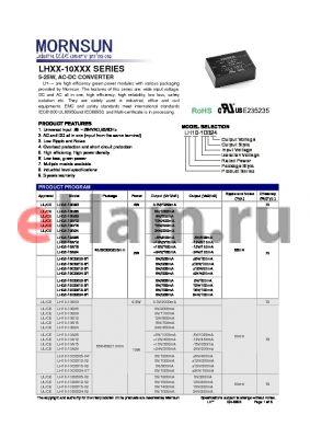 LH05-10B05 datasheet - 5-25W, AC-DC CONVERTER