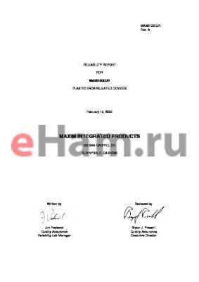 MAX6100EUR datasheet - PLASTIC ENCAPSULATED DEVICES