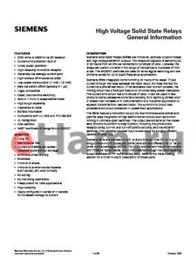 LH1500 datasheet - High Voltage Solid State Relays