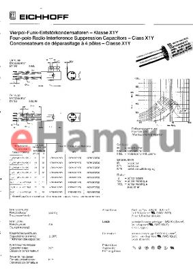 K009-850/502 datasheet - FORU-POLE RADIO INTERFERENCE SUPPRESSION CAPACITORS
