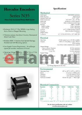 N35S-231-BQ0030-KI datasheet - Heavy Duty Incremental Rotary Shaft Encoder