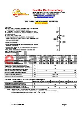 HER153 datasheet - 1.5A ULTRA FAST RECOVERY RECTIFIER