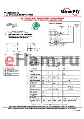 K1525CAM datasheet - 14 pin DIP, 5.0 Volt, CMOS/TTL, VCXO