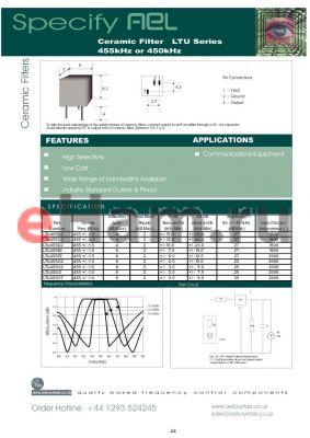 LTW33-455H datasheet - Ceramic Filter 455kHz or 450kHz