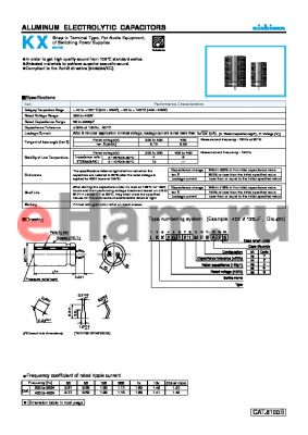LKX2G101MESY35 datasheet - ALUMINUM ELECTROLYTIC CAPACITORS