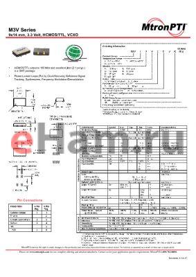 M3V21T1CJ datasheet - 9x14 mm, 3.3 Volt, HCMOS/TTL, VCXO