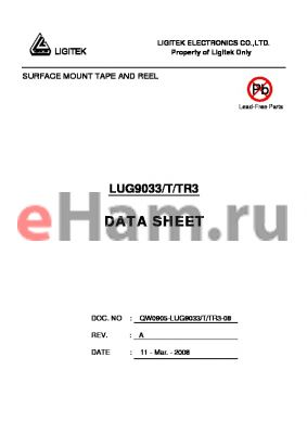 LUG9033/T/TR3 datasheet - SURFACE MOUNT TAPE AND REEL