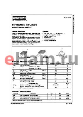 IRFR320B datasheet - 400V N-Channel MOSFET