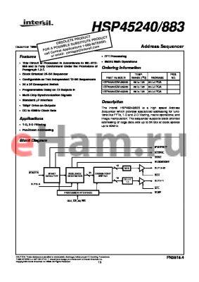 HSP45240GM-33 datasheet - Address Sequencer