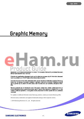 K4N51163QG datasheet - Graphic Memory