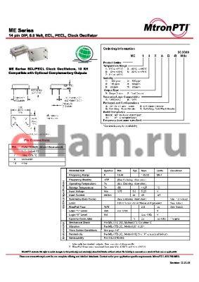 ME61ZAA-R datasheet - 14 pin DIP, 5.0 Volt, ECL, PECL, Clock Oscillator