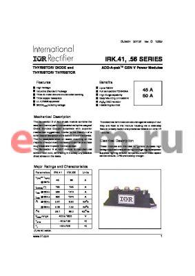 IRKN4104AS90 datasheet - THYRISTOR/ DIODE and THYRISTOR/ THYRISTOR