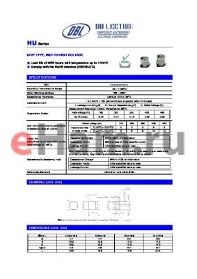 HU1V220KC datasheet - CHIP TYPE, MID-TO-HIGH VOLTAGE