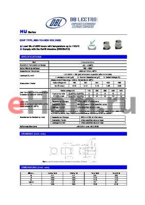 HU1V220KR datasheet - CHIP TYPE, MID-TO-HIGH VOLTAGE