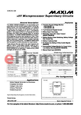 MAX819LESA datasheet - 5V Microprocessor Supervisory Circuits