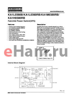 KA1L0380B-TU datasheet - Fairchild Power Switch(SPS)