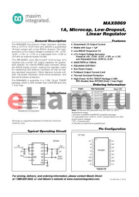 MAX8869EUE18_12 datasheet - 1A, Microcap, Low-Dropout, Linear Regulator