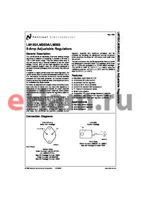 LM350T datasheet - 3-Amp Adjustable Regulators