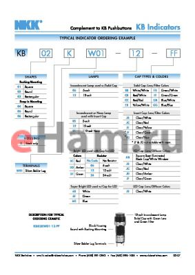 KB03KW01-5C datasheet - Complement to KB Pushbuttons