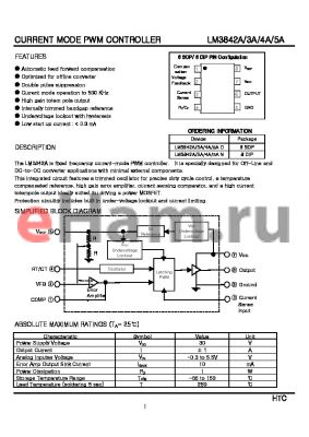 LM3844AD datasheet - CURRENT MODE PWM CONTROLLER