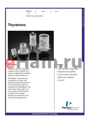 HY-10 datasheet - Thyratrons