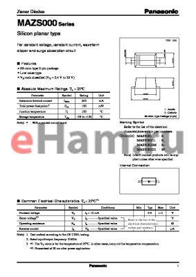 MAZS0330L datasheet - Silicon planar type