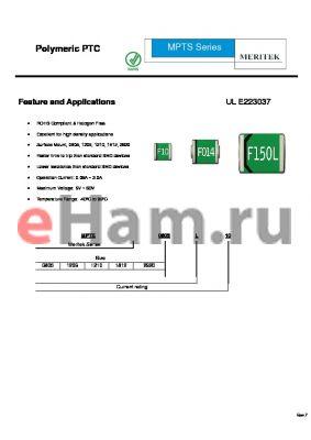 MPTS1812L110-24R datasheet - Polymeric PTC