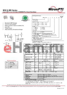 MH21TDG-R datasheet - 8 pin DIP, 3.3 or 5.0 Volt, HCMOS/TTL Clock Oscillator