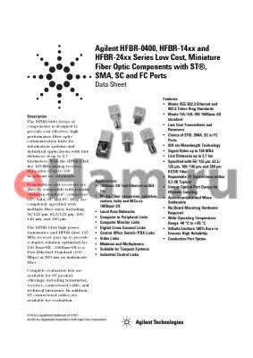 HFBR-1425TM datasheet - Components is Designed to Provide cost effective, High performance fiber optic communication links