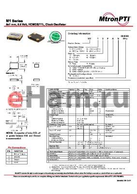 M148TGN datasheet - 5x7 mm, 5.0 Volt, HCMOS/TTL, Clock Oscillator